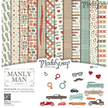 ModaScrap PAPER PACK MANLY MAN 6x6