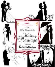 FelicitaDesign Toppers Bryllup sort/hvid