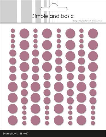 SBA017 Enamel Dots Old Rose (96 pcs)