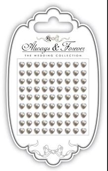 AFAPRL003 CC Adhesive Pearl Hearts