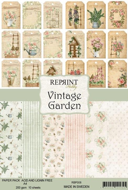Reprint Vintage Garden Collection A4 Paper Pack (RBP008)