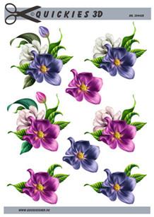 3d A4 fra Quickies Smukke blomsterhovder