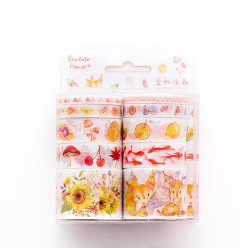 Washi Tape 10 Piece Dream of Sunflower