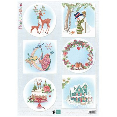 Marianne Design A4 Motiv ark Christmas wishes Deer EWK1280