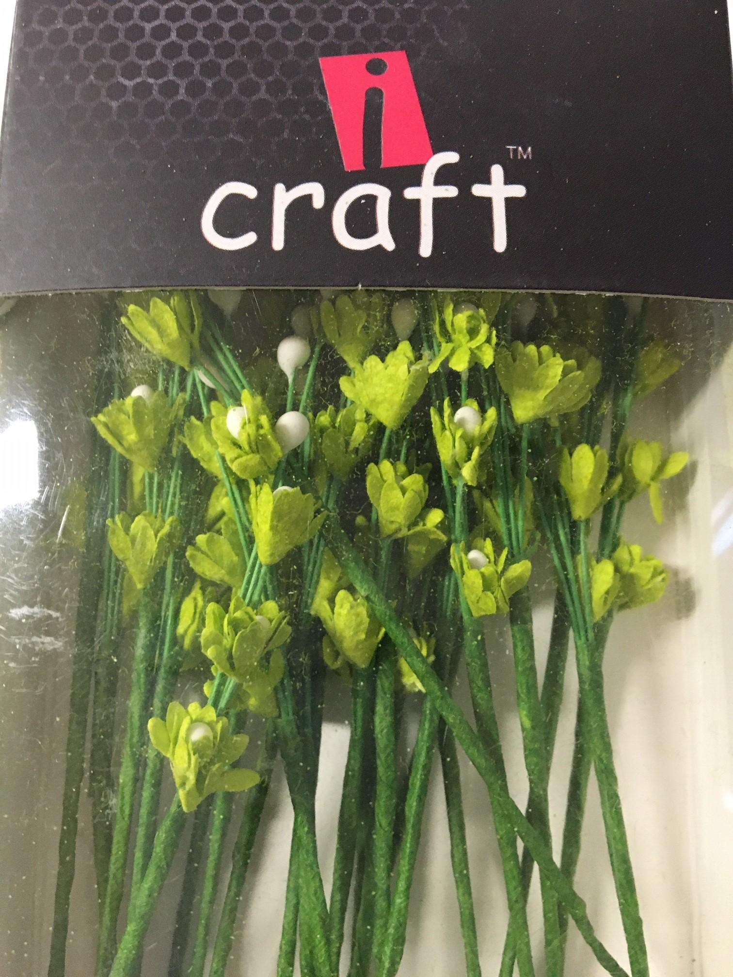 ICMF11 Små Blomster Limegrønne