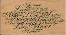 """ARTEMIO Træstempel med tekst """"Love, amour..."""""""