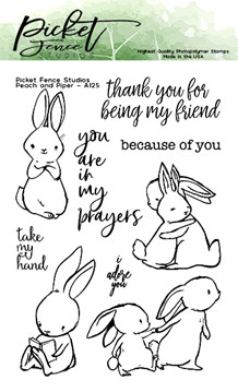 PFS Peach and Piper Clear Stamps (A-125)