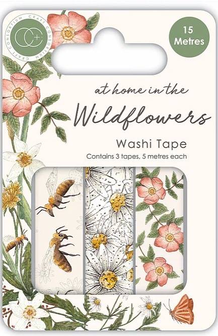 CCWTPE005 At home in the wildflowers - Washi Tape