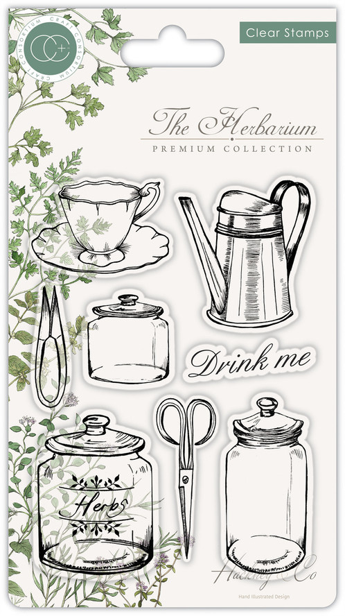 CCSTMP012 The Herbarium -Utensils - Clear Stamp Set