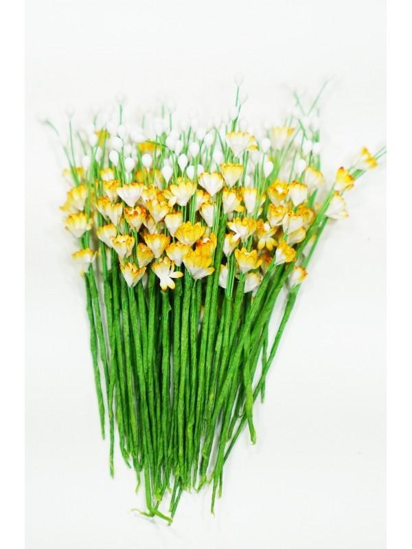 ICMF10 Små Blomster Hvid og Gul