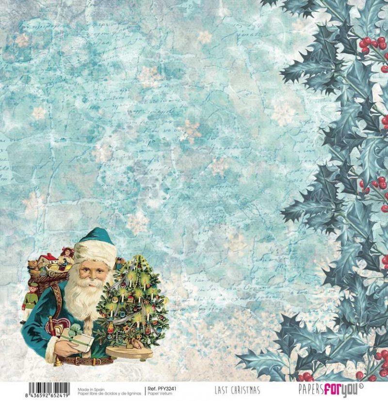 PFY3241 PAPER SCRAP VELLUM LAST CHRISTMAS