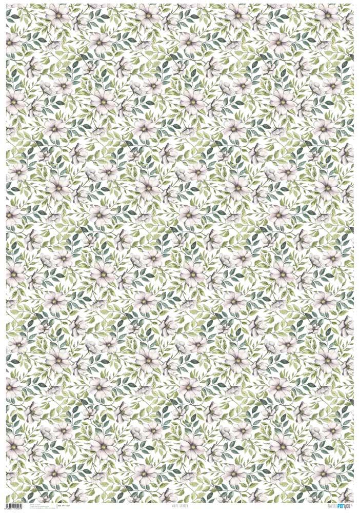 PFY1507 WHITE GARDEN PAPER