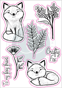 CCSTMP017 Over the Hedge - Stamp Set - Henry the Fox