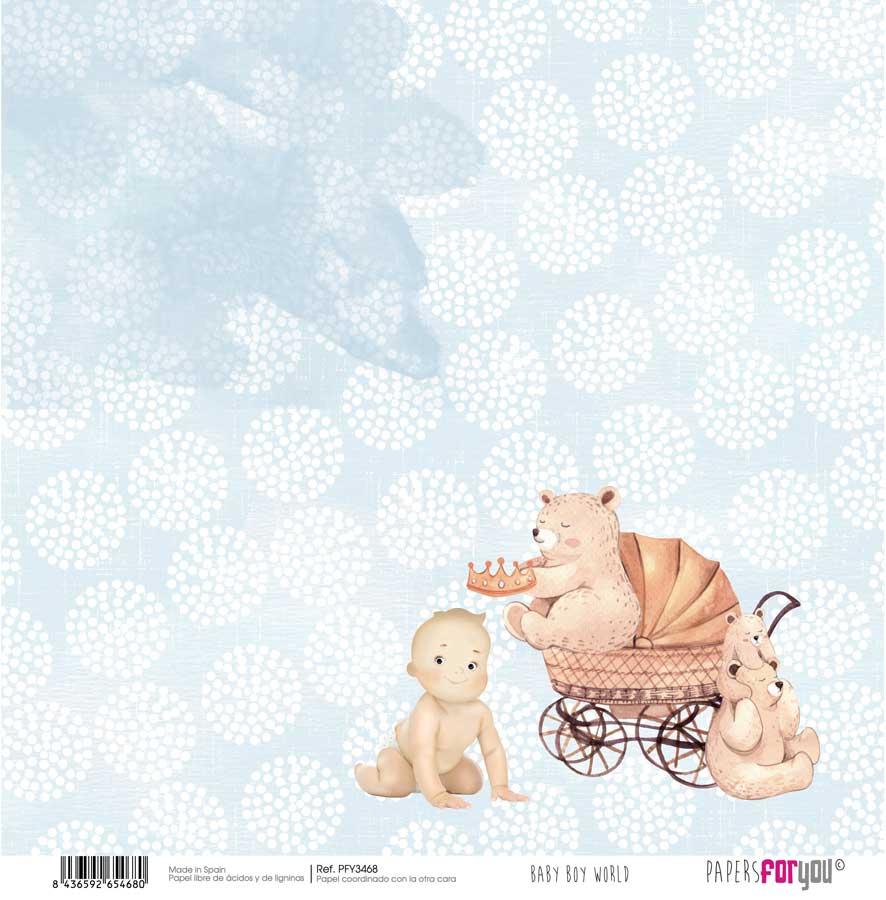 PFY3468 PAPEL SCRAP BABY BOY WORLD