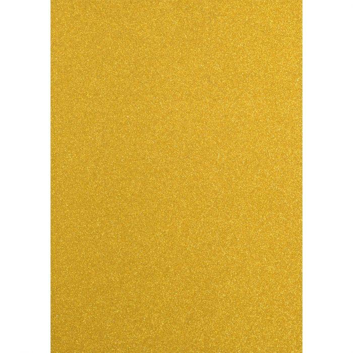 Florence • Glitter paper A4 5pcs 250g Yellow gold
