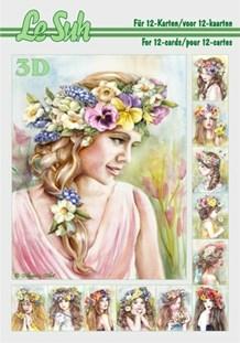 3d A5 bog: Blomster pigerne