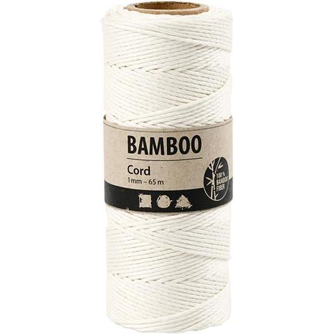 "Bamboo Cord ""White"" 503481 pr meter"