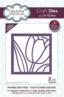 CE CED4378 Tulip flower square