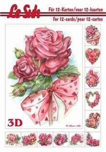 3d A5 bog: 12 motiver med roser