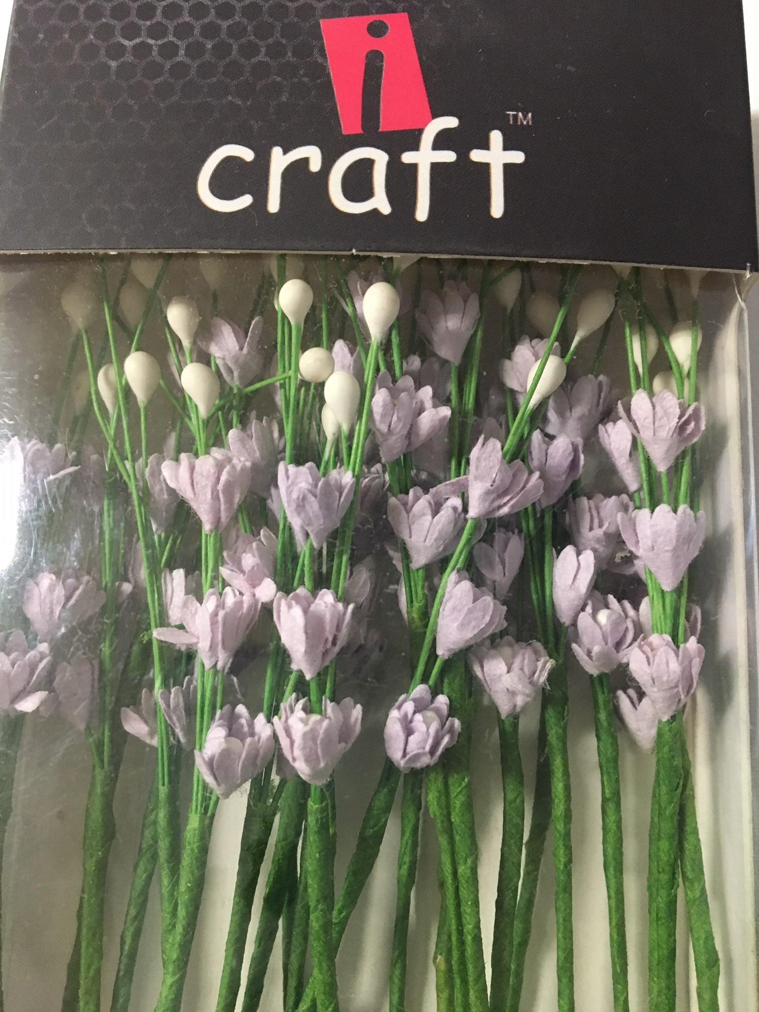 ICMF004 Små Blomster Lys Lilla