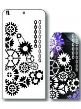 """IC8601 4""""x8"""" Stencil Tandhjul"""