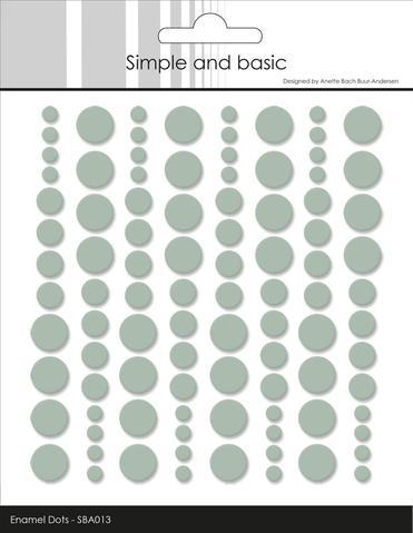 SBA013 Enamel Dots Sage (96 pcs)