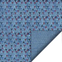 """FelicitaDesign 12""""x12"""" Karton, 200gr, To-sidet, Grafiske trekanter/vævet"""