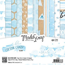 ModaScrap PAPER PACK BLUE COTTON CANDY 6x6