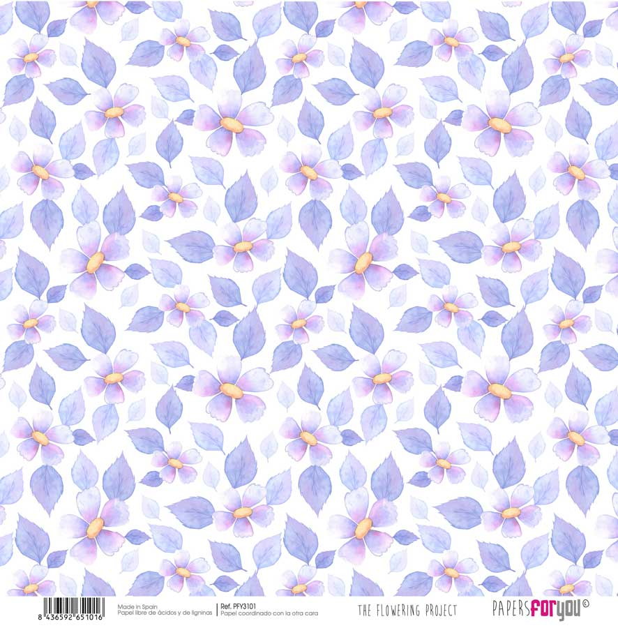 PFY3101 PAPEL SCRAP THE FLOWERING PROJECT