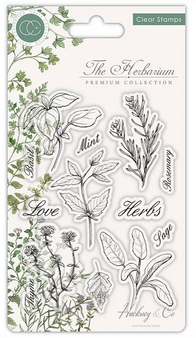 CCSTMP011 The Herbarium - Clear Stamp Set - Herbs