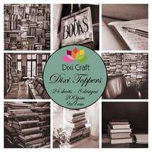 Dixi Craft Toppers Bøger sort/hvid