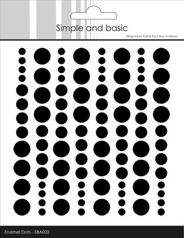 SBA002 Enamel Dots Jet Black (96 pcs)