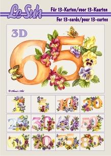 3d A5 bog: Blomster tal