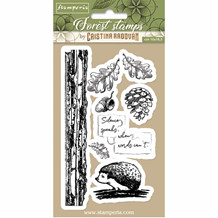 Stamperia Natural Rubber Stamp Hedgehog (WTKCCR10)
