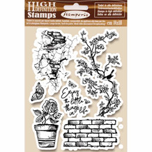 Stamperia Natural Rubber Stamp Enjoy (WTKCC166)