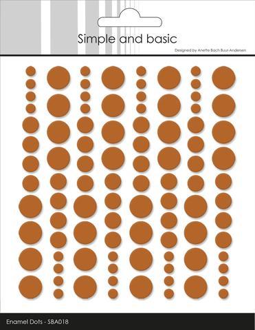 SBA018 Enamel Dots Cognac (96 pcs)