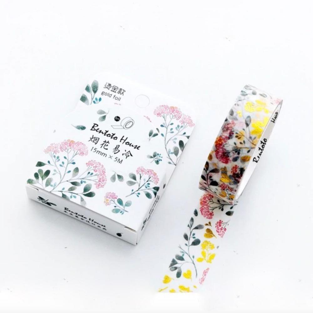Washi Tape Arabesque Flower Bentoto