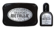 Stazon inkpad set metallic SZ-000-192 silver