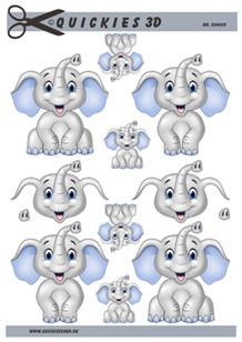 3d A4 fra Quickies Glad drenge elefant