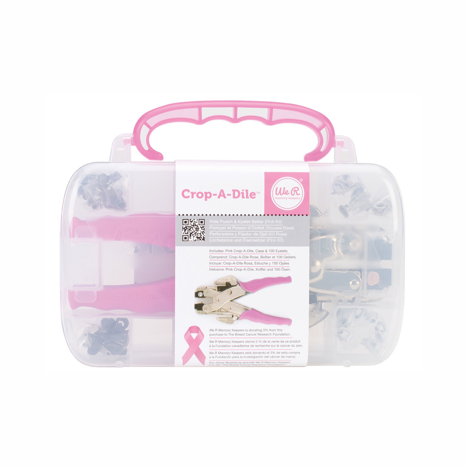 We R Memory Keepers Pink Case Crop-A-Dile Tool (70908-4)