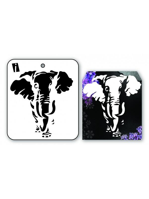 """IC8944 4""""x4"""" Stencil Elefant"""