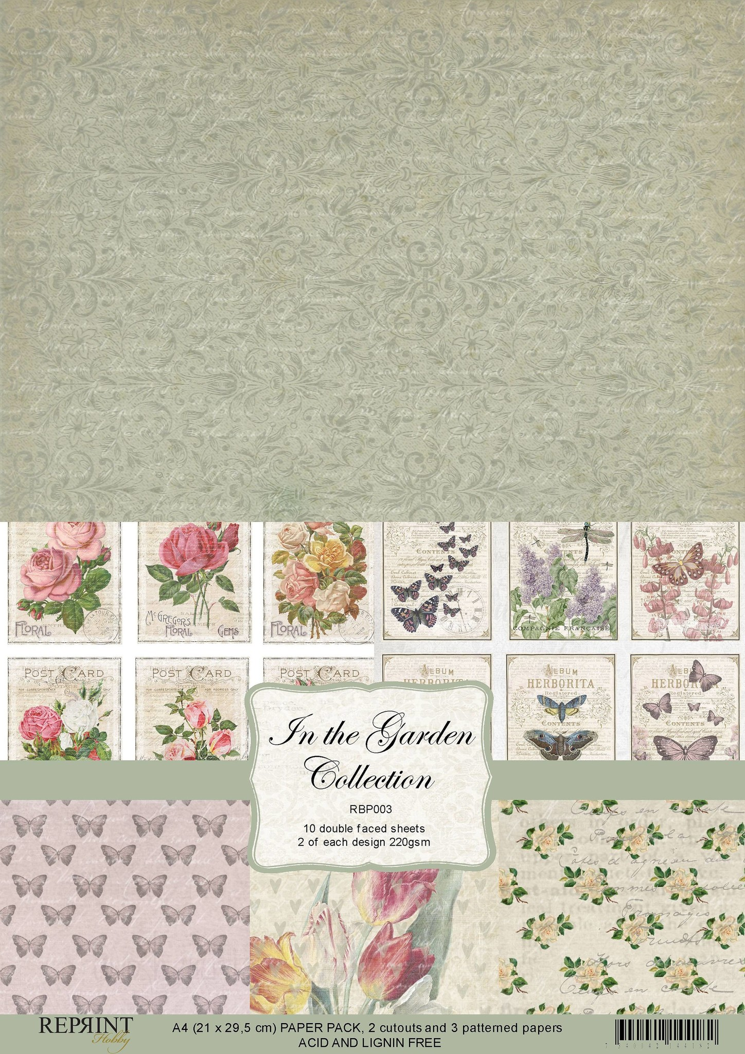 Reprint In the Garden Collection A4 Paper Pack (RBP003)