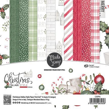 ModaScrap PAPER PACK CHRISTMAS ITALIAN STYLE 6X6