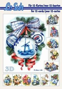 3d A5 bog: Blå jul