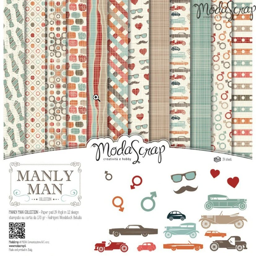 ModaScrap PAPER PACK MANLY MAN 12x12