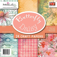 Polkadoodles Butterfly Daisy