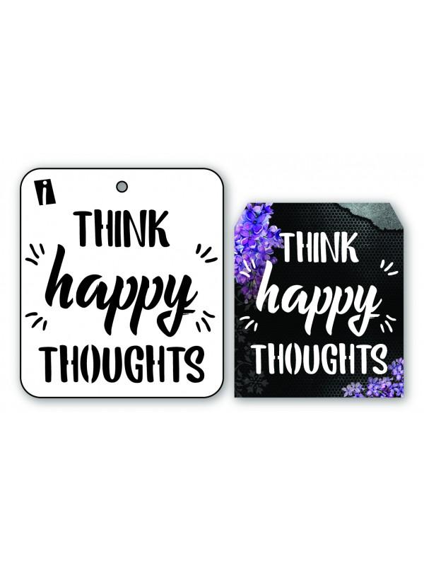 """IC8932 4""""x4"""" Stencil Think Happy"""