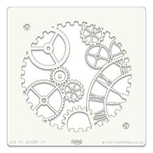Stencil 7x7 Inch Clockwork