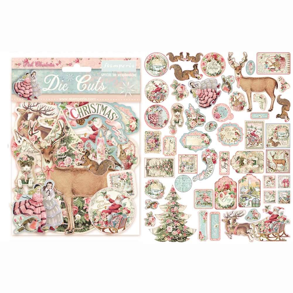 Stamperia Pink Christmas Die Cuts (DFLDC15 )