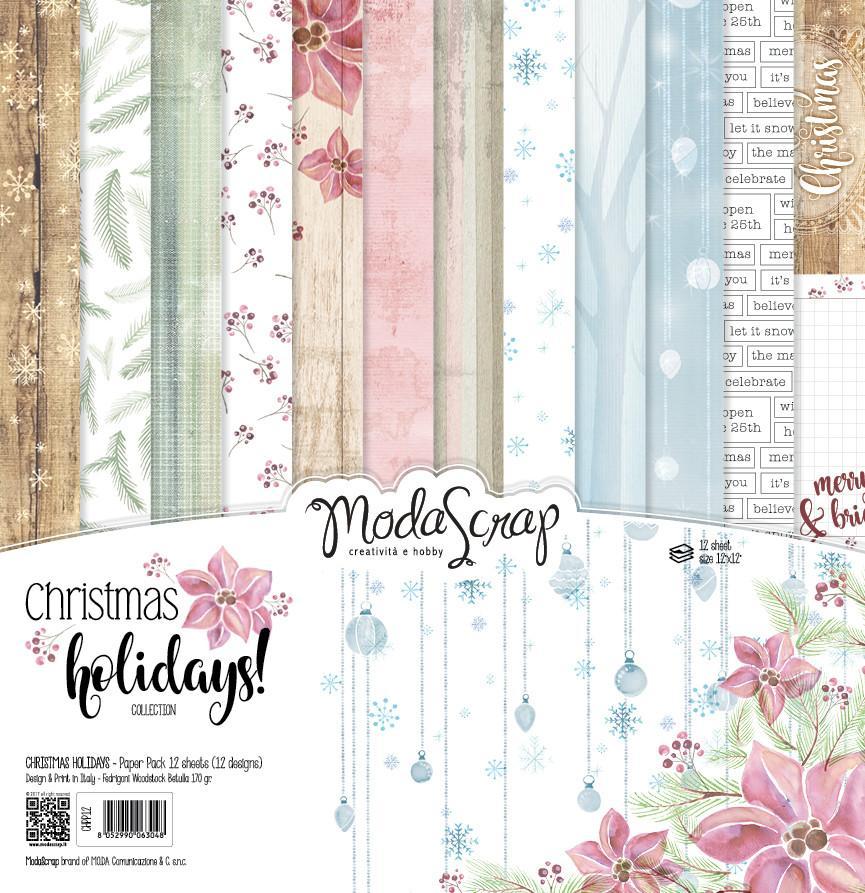 ModaScrap PAPER PACK CHRISTMAS HOLIDAYS 12X12